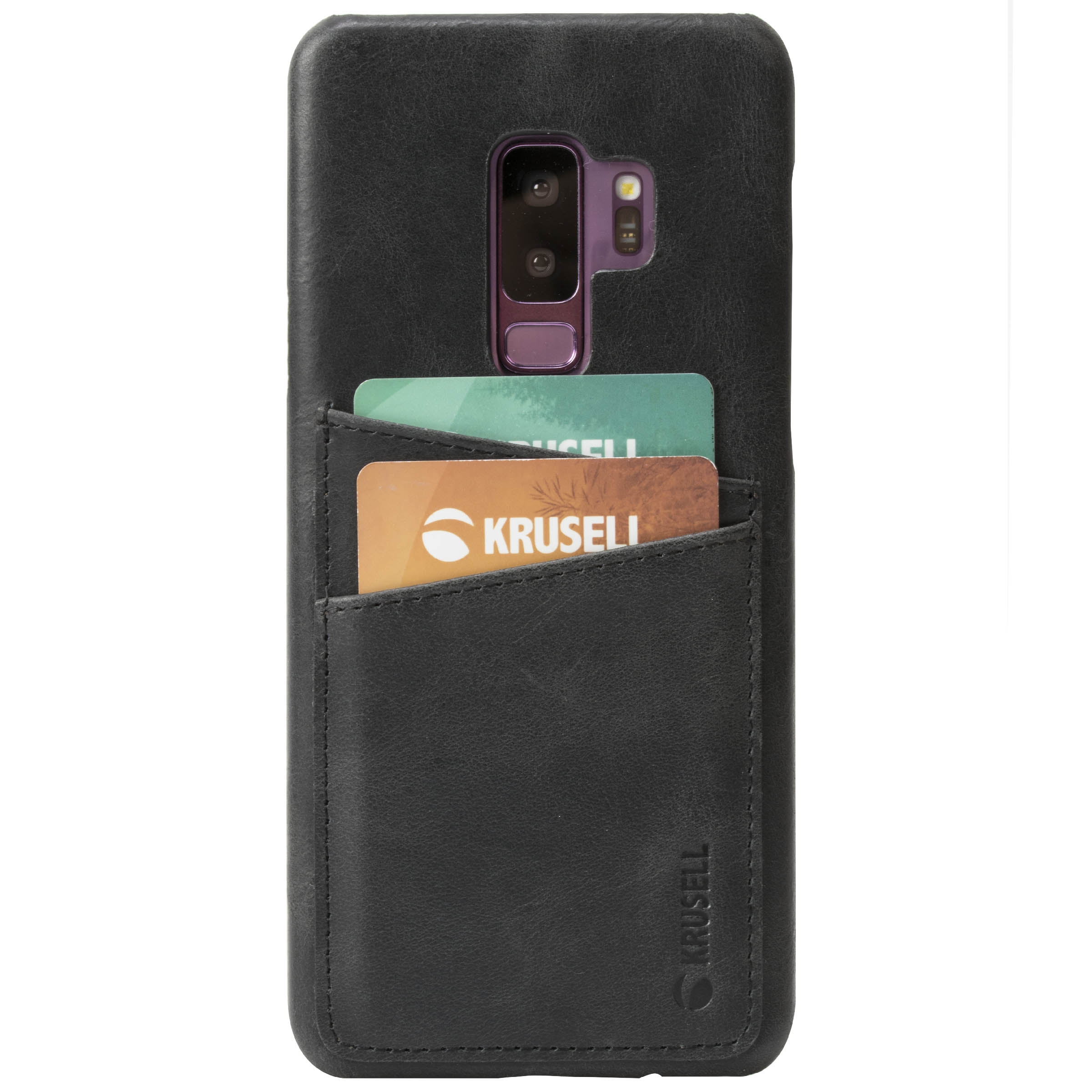 Capac protectie spate Krusell Sunne Cover 2 Card pentru Samsung Galaxy S9 Plus (G965F) Leather Vintage Black