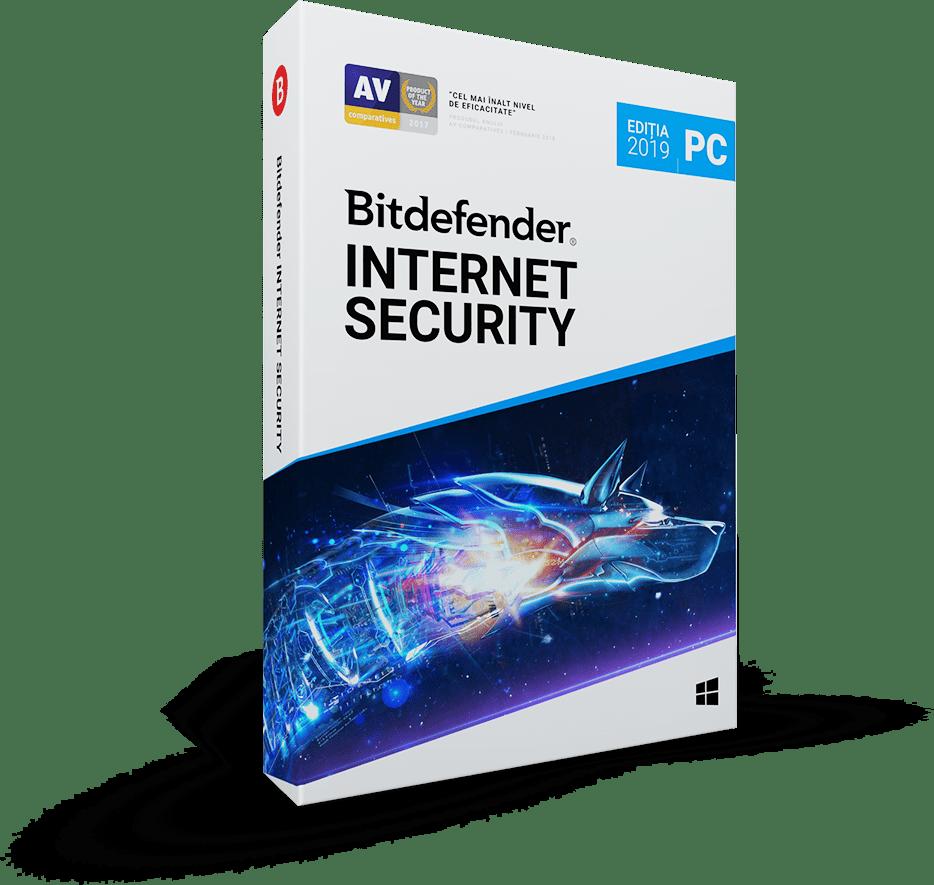 Bitdefender Internet Security 2019 1 an 3 utilizatori Noua Retail