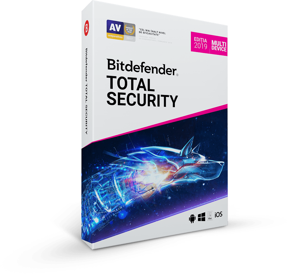 Bitdefender Total Security 2019 1 an 10 utilizatori Noua Retail