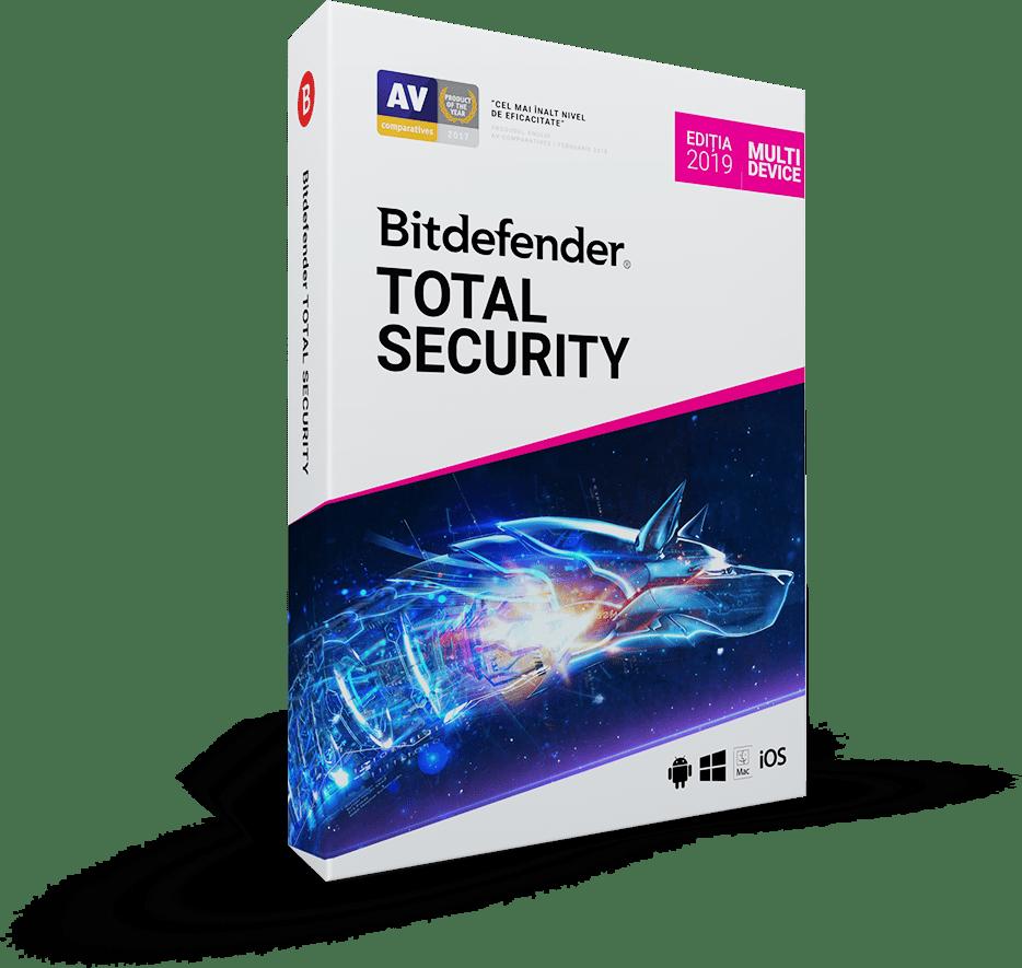 Bitdefender Total Security 2019 1 an 3 utilizatori Noua Retail
