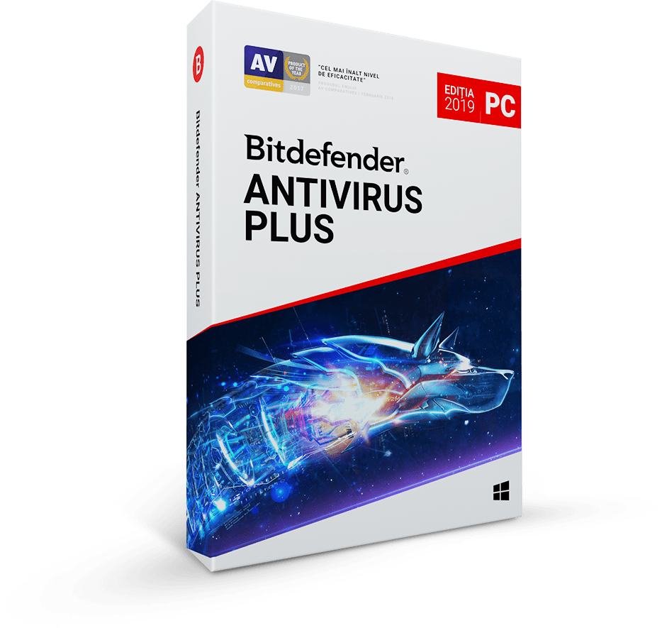 Bitdefender Antivirus Plus 2019 1 an 1 utilizator Noua Retail