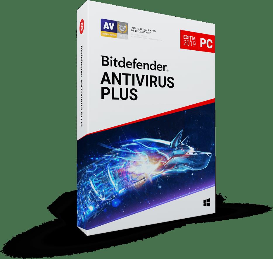 Bitdefender Antivirus Plus 2019 1 an 3 utilizatori Noua Retail