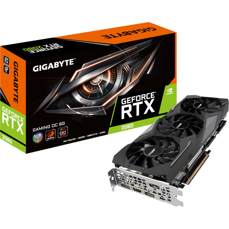 Placa Video Gigabyte GeForce RTX 2080 Gaming OC 8GB GDDR6 256 biti