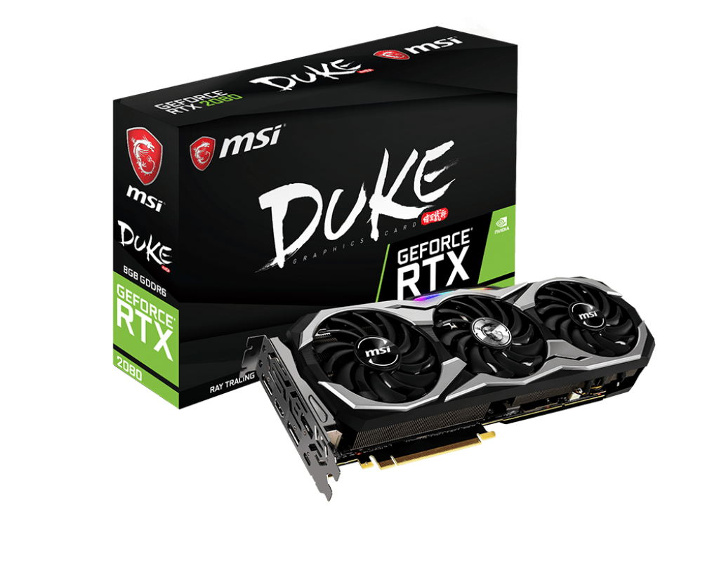 Placa Video MSI GeForce RTX 2080 DUKE 8G OC 8GB GDDR6 256 biti