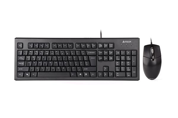 Kit Tastatura & Mouse A4Tech KRS-8372 USB US Layout Black