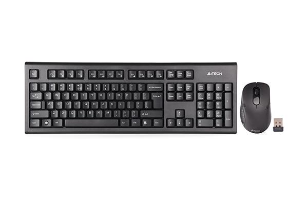 Kit Tastatura & Mouse A4Tech 7100N 2.4G Hz US Layout Black