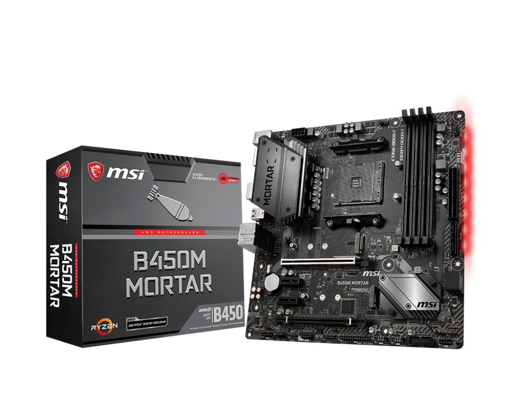 Placa de baza MSI B450M MORTAR Socket AM4