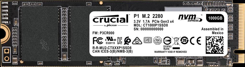 Hard Disk SSD Micron Crucial P1 1TB M.2 2280