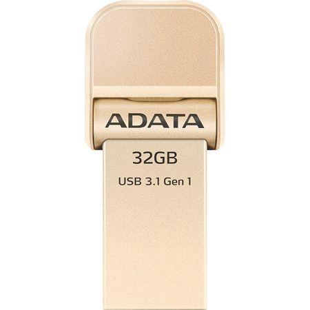 Flash Drive A-Data AI920 32GB Lightning / USB 3.1 Gold