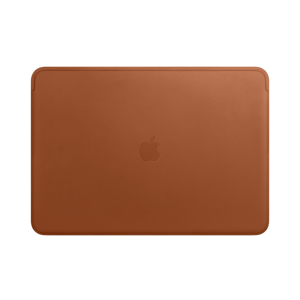 Husa Apple Leather Sleeve MRQV2ZM/A pentru MacBook Pro 15 Maro