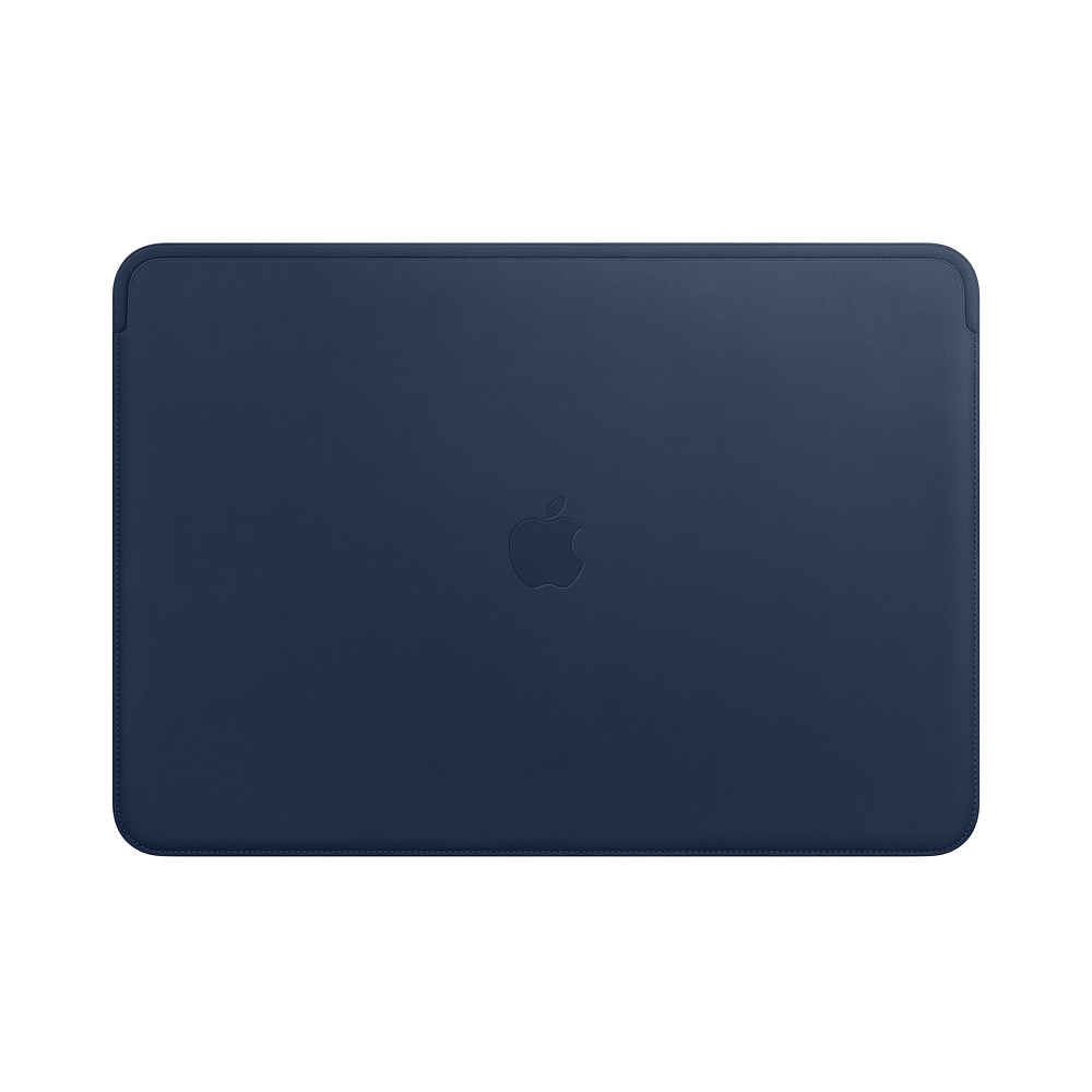 Husa Apple Leather Sleeve MRQU2ZM/A pentru MacBook Pro 15 Albastru