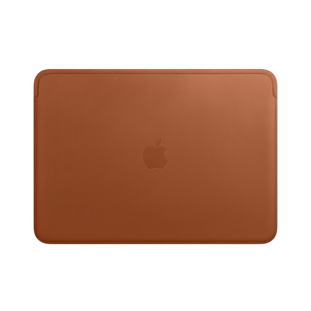 Husa Apple Leather Sleeve MRQM2ZM/A pentru MacBook Pro 13 Maro