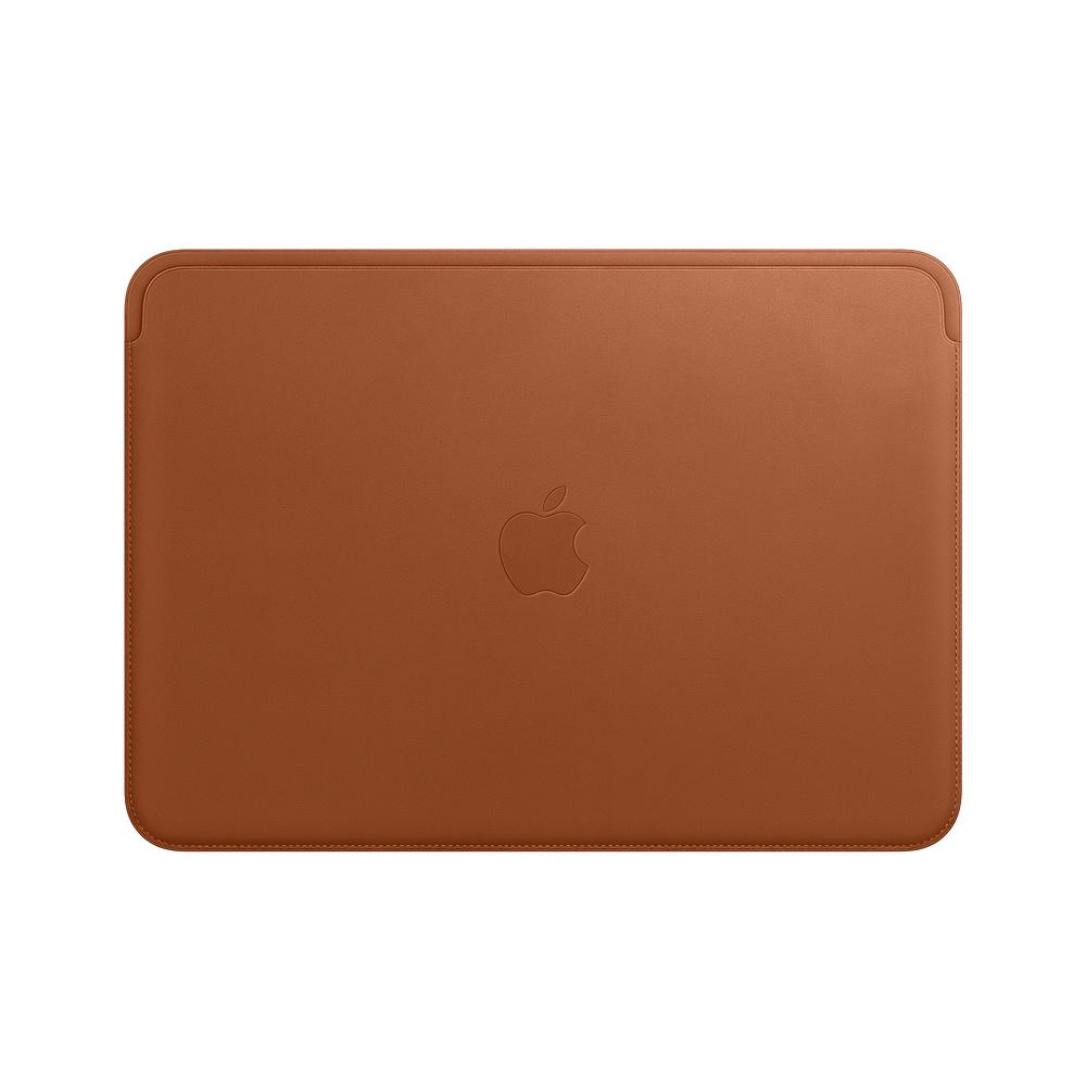 Husa Apple Leather Sleeve MQG12ZM/A pentru MacBook 12 Maro