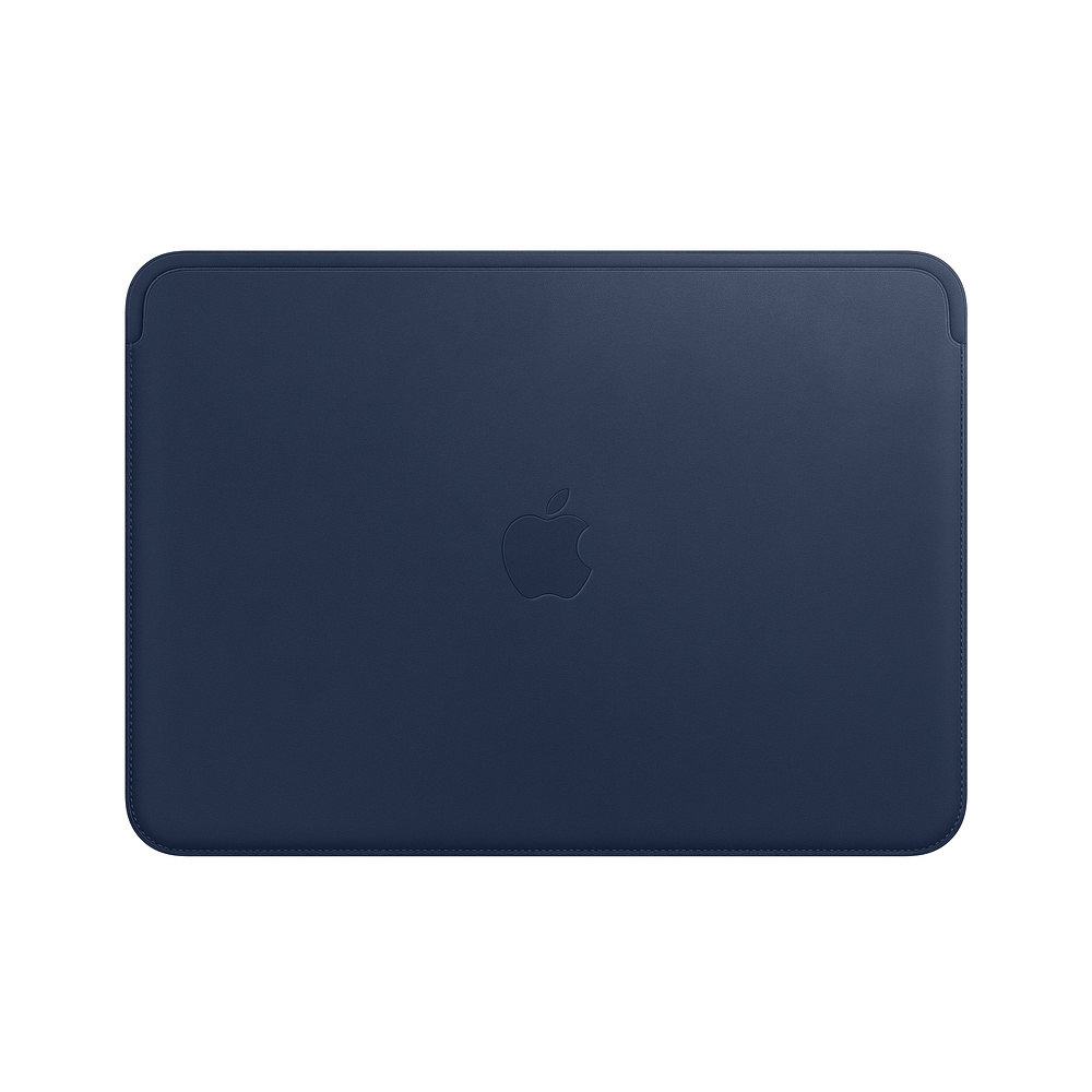 Husa Apple Leather Sleeve MQG02ZM/A pentru MacBook 12 Albastru