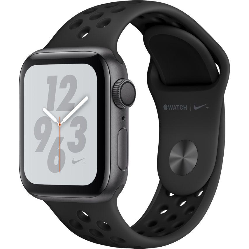 Smartwatch Apple Watch Nike+ Series 4 GPS 44mm Carcasa Space Grey Aluminium Bratara Anthracite/Black Nike Sport Band