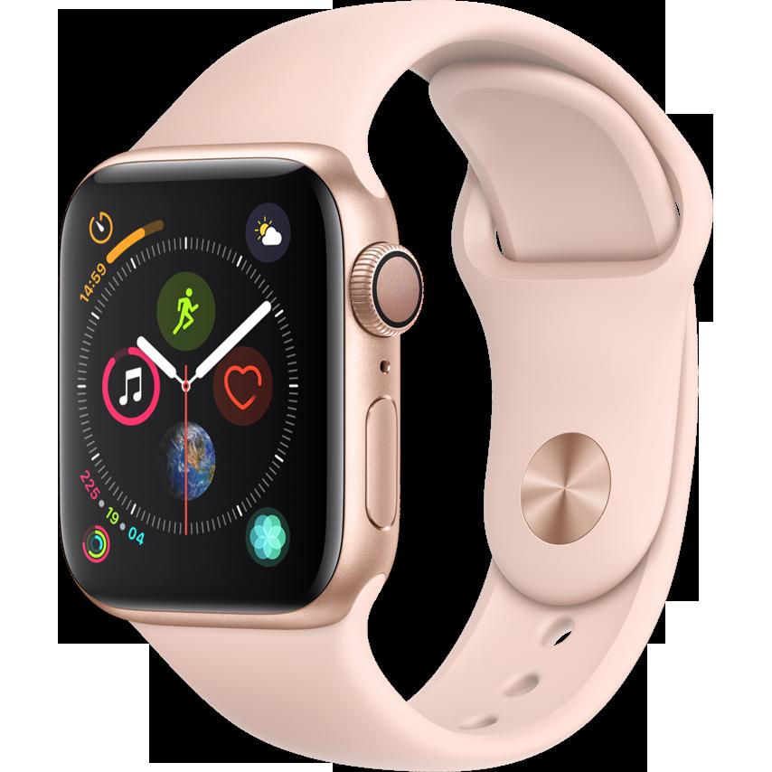 Smartwatch Apple Watch Series 4 GPS 40mm Carcasa Gold Aluminium Bratara Pink Sand Sport Band