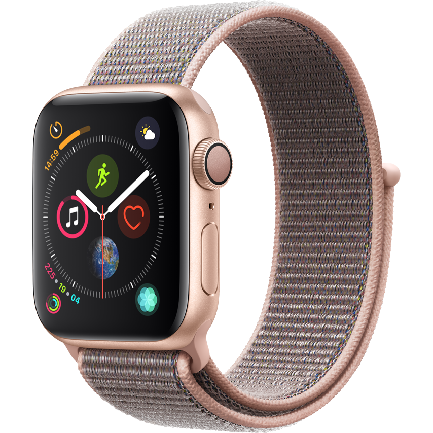 Smartwatch Apple Watch Series 4 GPS 44mm Carcasa Gold Aluminium Bratara Pink Sand Sport Loop