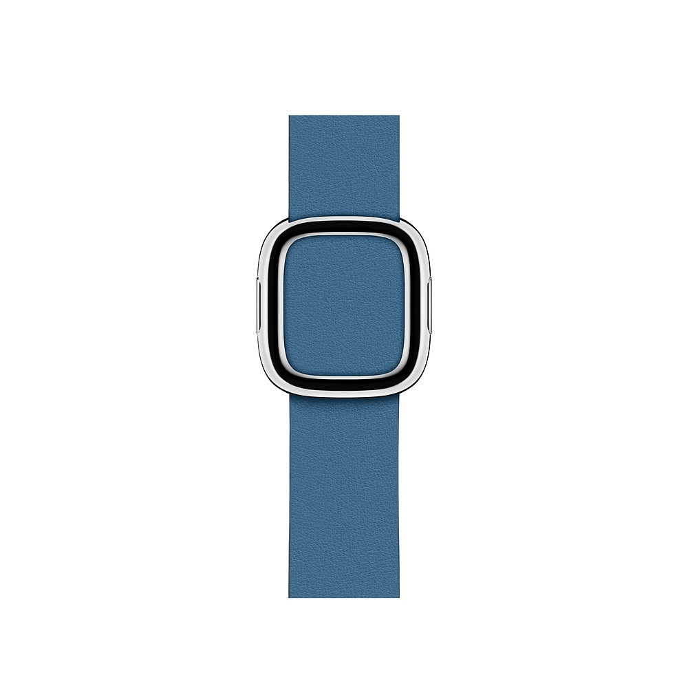 Curea Smartwatch Apple pentru Apple Watch Series 4 40mm Cape Cod Blue Modern Buckle Band - Small