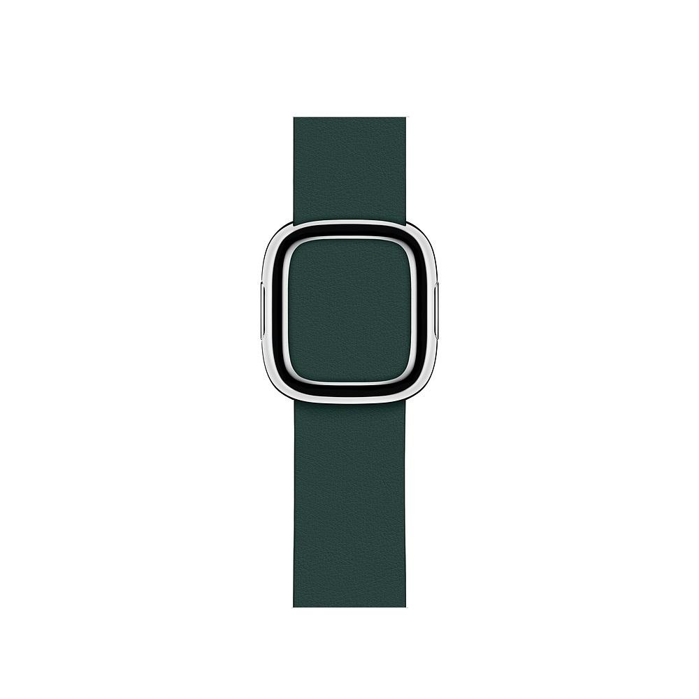 Curea Smartwatch Apple pentru Apple Watch Series 4 40mm Forest Green Modern Buckle Band - Small