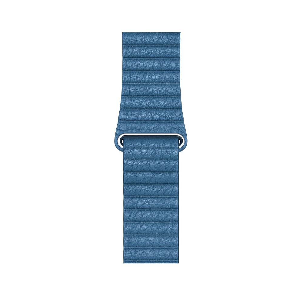 Curea Smartwatch Apple pentru Apple Watch Series 4 44mm Cape Cod Blue Leather Loop - Large