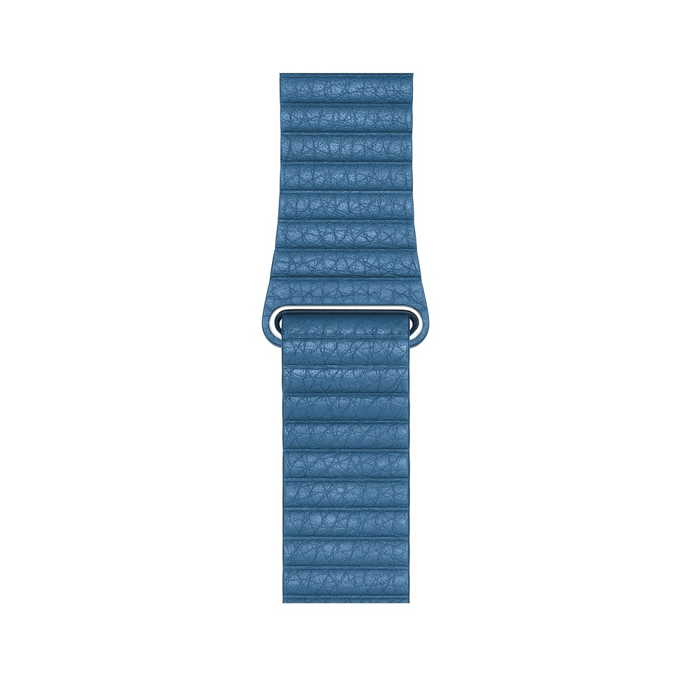 Curea Smartwatch Apple pentru Apple Watch Series 4 44mm Cape Cod Blue Leather Loop - Medium