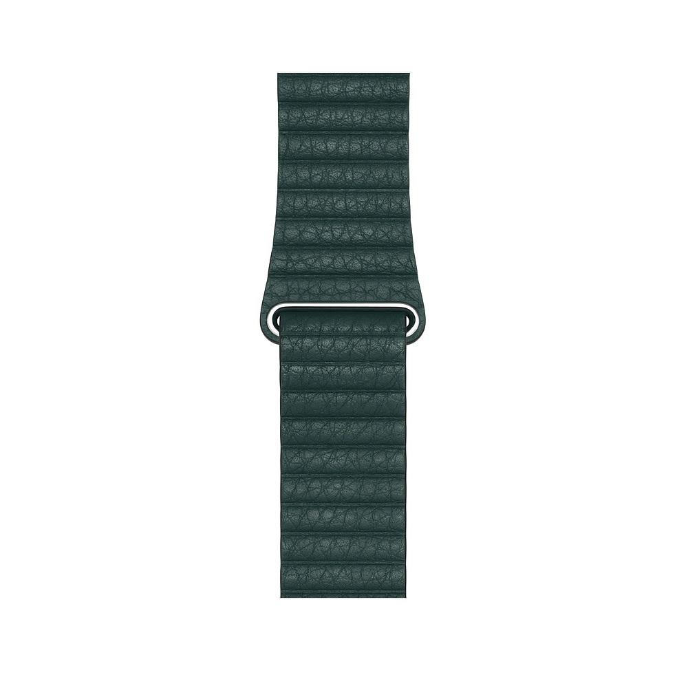 Curea Smartwatch Apple pentru Apple Watch Series 4 44mm Forest Green Leather Loop - Medium