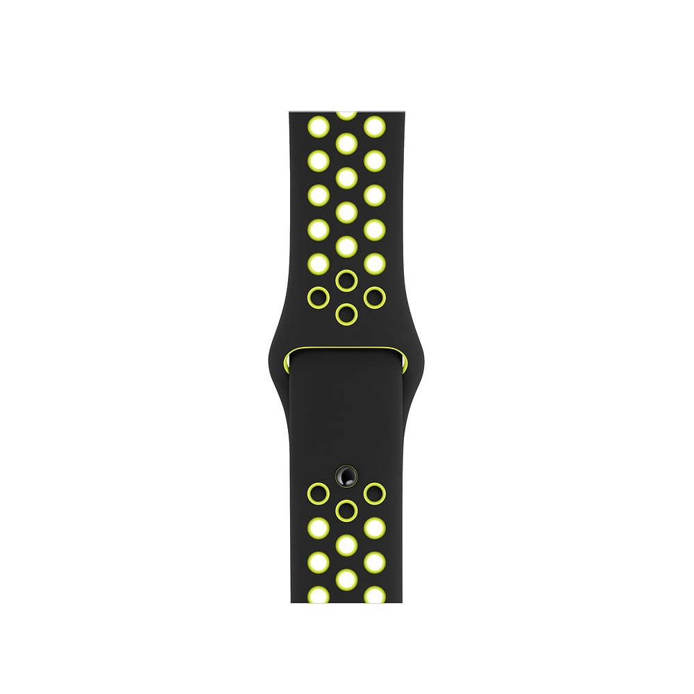 Curea Smartwatch Apple pentru Apple Watch Series 4 40mm Black/Volt Nike Sport Band - S/M & M/L
