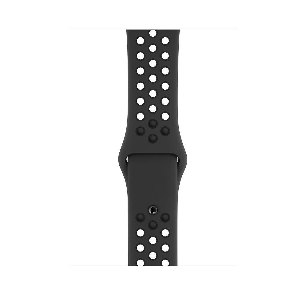 Curea Smartwatch Apple pentru Apple Watch Series 4 44mm Anthracite/Black Nike Sport Band - S/M & M/L