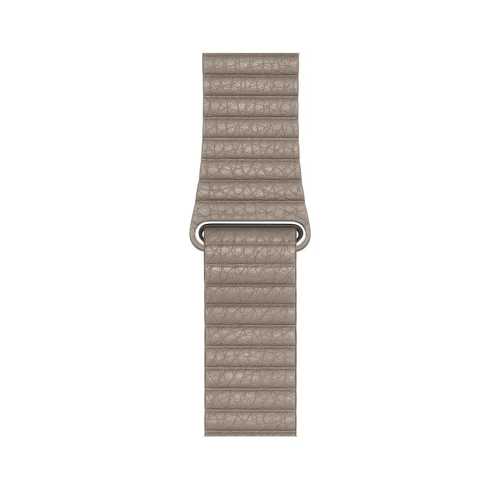 Curea Smartwatch Apple pentru Apple Watch Series 4 44mm Stone Leather Loop - Large