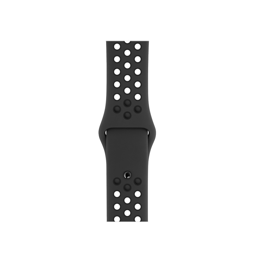 Curea Smartwatch Apple pentru Apple Watch Series 4 40mm Anthracite/Black Nike Sport Band - S/M & M/L