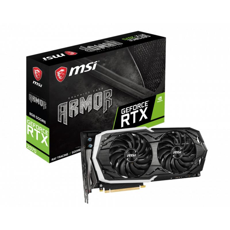Placa Video MSI GeForce RTX 2070 ARMOR 8G 8GB GDDR6 256 biti
