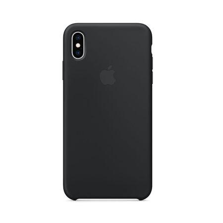 Capac protectie spate Apple Silicone Case pentru iPhone XS Max Black