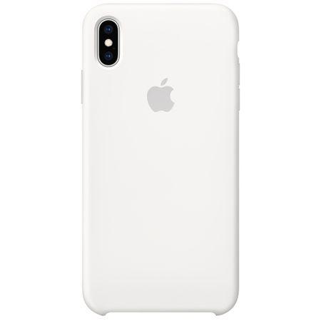 Capac protectie spate Apple Silicone Case pentru iPhone XS Max White