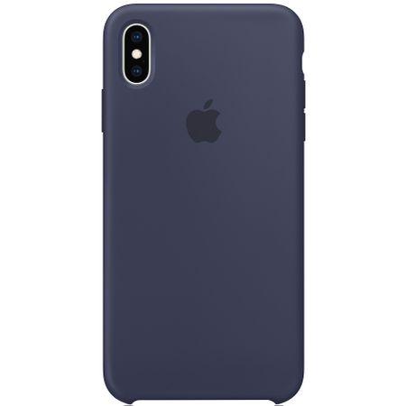 Capac protectie spate Apple Silicone Case pentru iPhone XS Max Midnight Blue