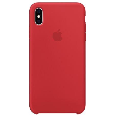 Capac protectie spate Apple Silicone Case pentru iPhone XS Max Red