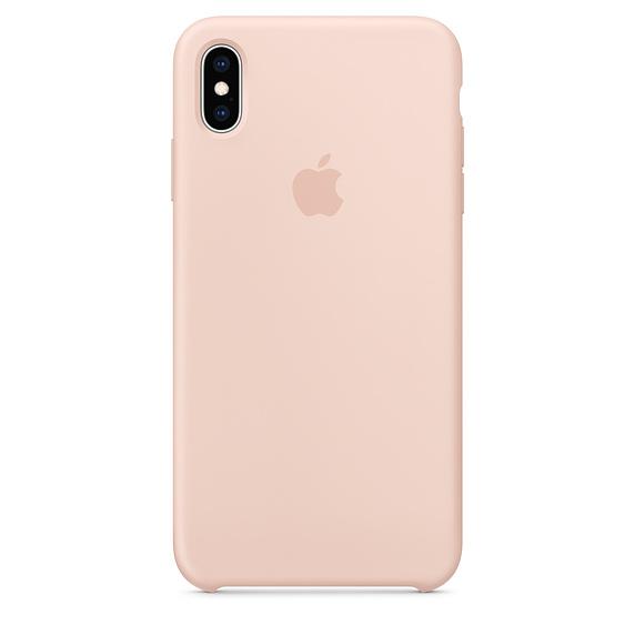Capac protectie spate Apple Silicone Case pentru iPhone XS Max Pink Sand