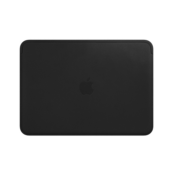 Husa Apple Leather Sleeve MTEG2ZM/A pentru MacBook 12 Negru