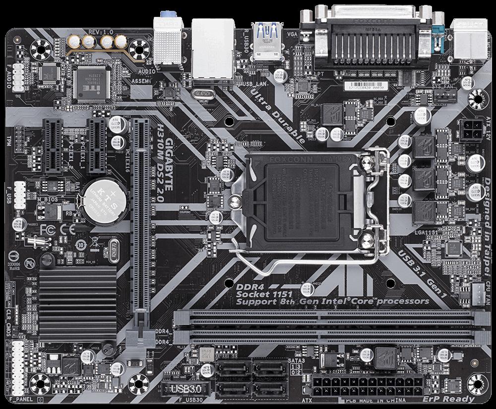 Placa de baza Gigabyte H310M DS2 2.0 soket 1151