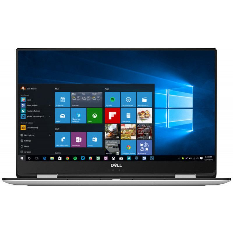 Ultrabook Dell XPS 9575 15.6 Full HD Touch Intel Core i7-8705G RX Vega M GL-4GB HBM2 RAM 16GB SSD 512GB Windows 10 Pro Argintiu
