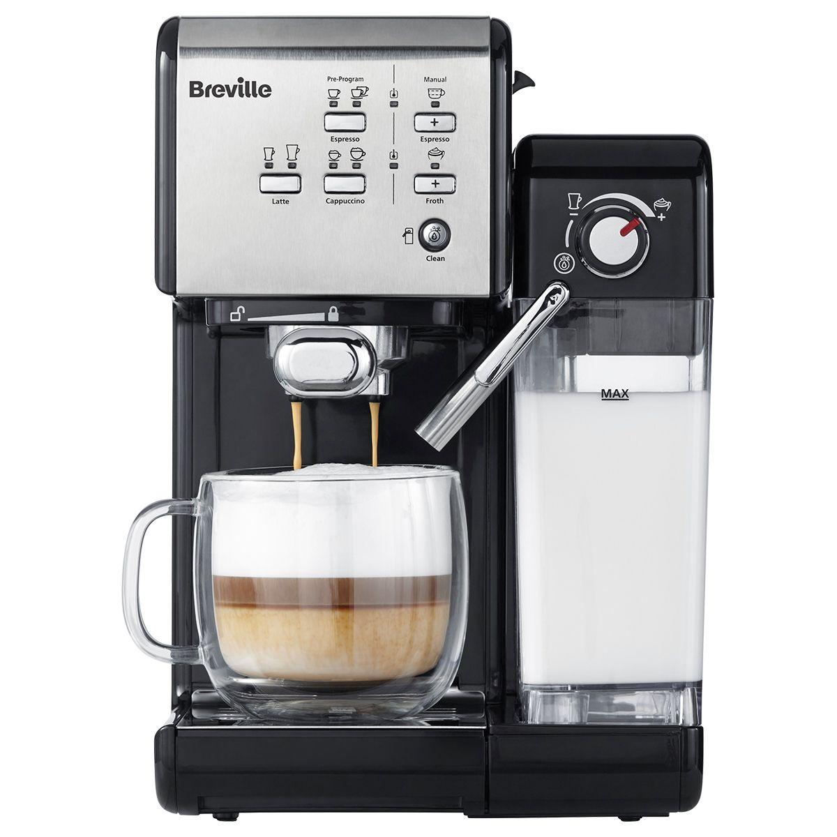 Espressor cafea Breville Prima Latte II 19 bar 1.5L Argintiu