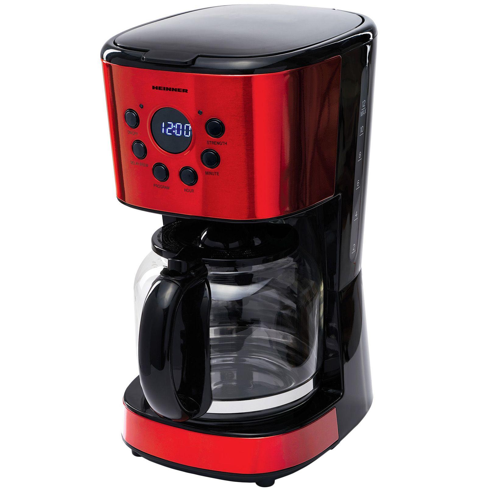 Cafetiera Heinner HCM-1500RDIX 900W 1.5L Rosu