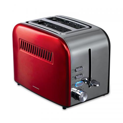 Prajitor de paine Heinner Crisp Passion HTP-850RDIX 850W 7 nivele de rumenire Rosu/Gri