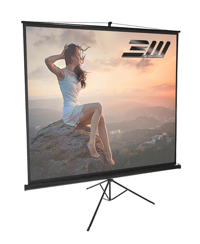 Ecran proiectie trepied BlackMount marime vizibila 180 cm x 180 cm