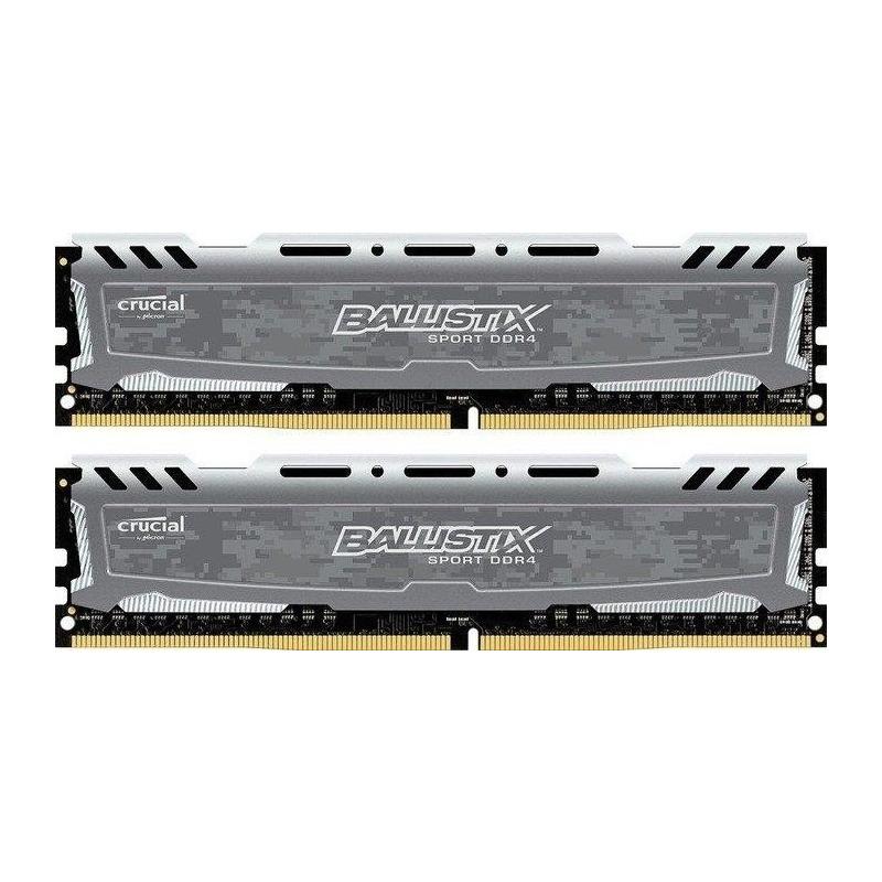Memorie Desktop Crucial Ballistix Sport LT Gray 16GB(2 x 8GB) DDR4 3000MHz CL16