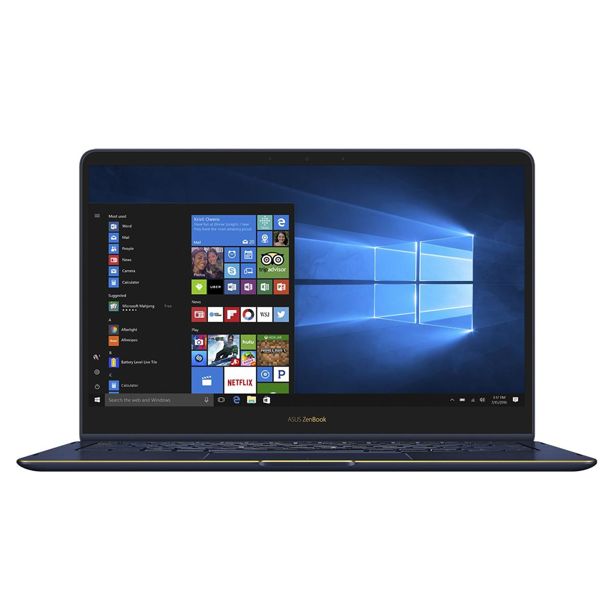 Ultrabook Asus ZenBook Flip S UX370UA 13.3 Full HD Touch Intel Core i7-8550U RAM 16GB SSD 256GB Windows 10 Pro Albastru