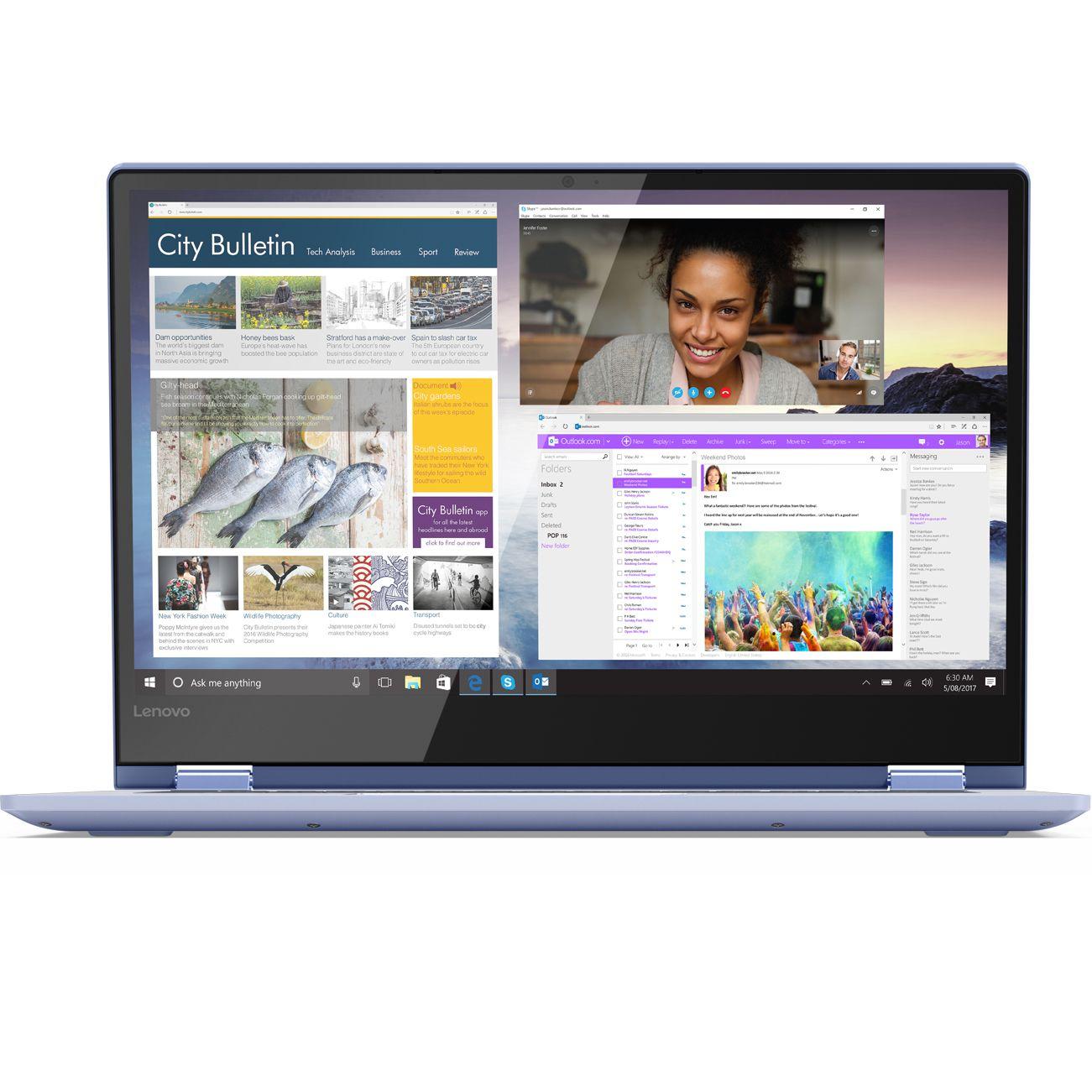 Ultrabook Lenovo Yoga 530 14 Full HD Touch Intel Core i5-8250U RAM 8GB SSD 512GB Windows 10 Home Albastru