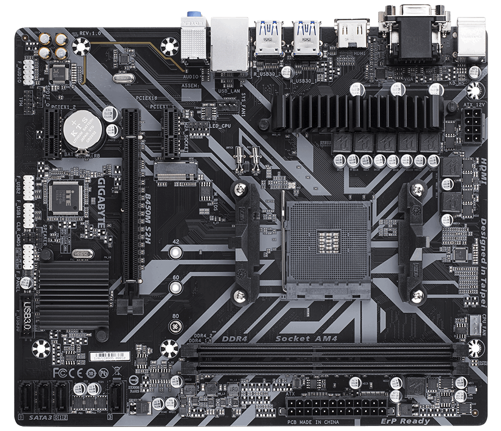 Placa de baza Gigabyte B450M S2H Socket AM4