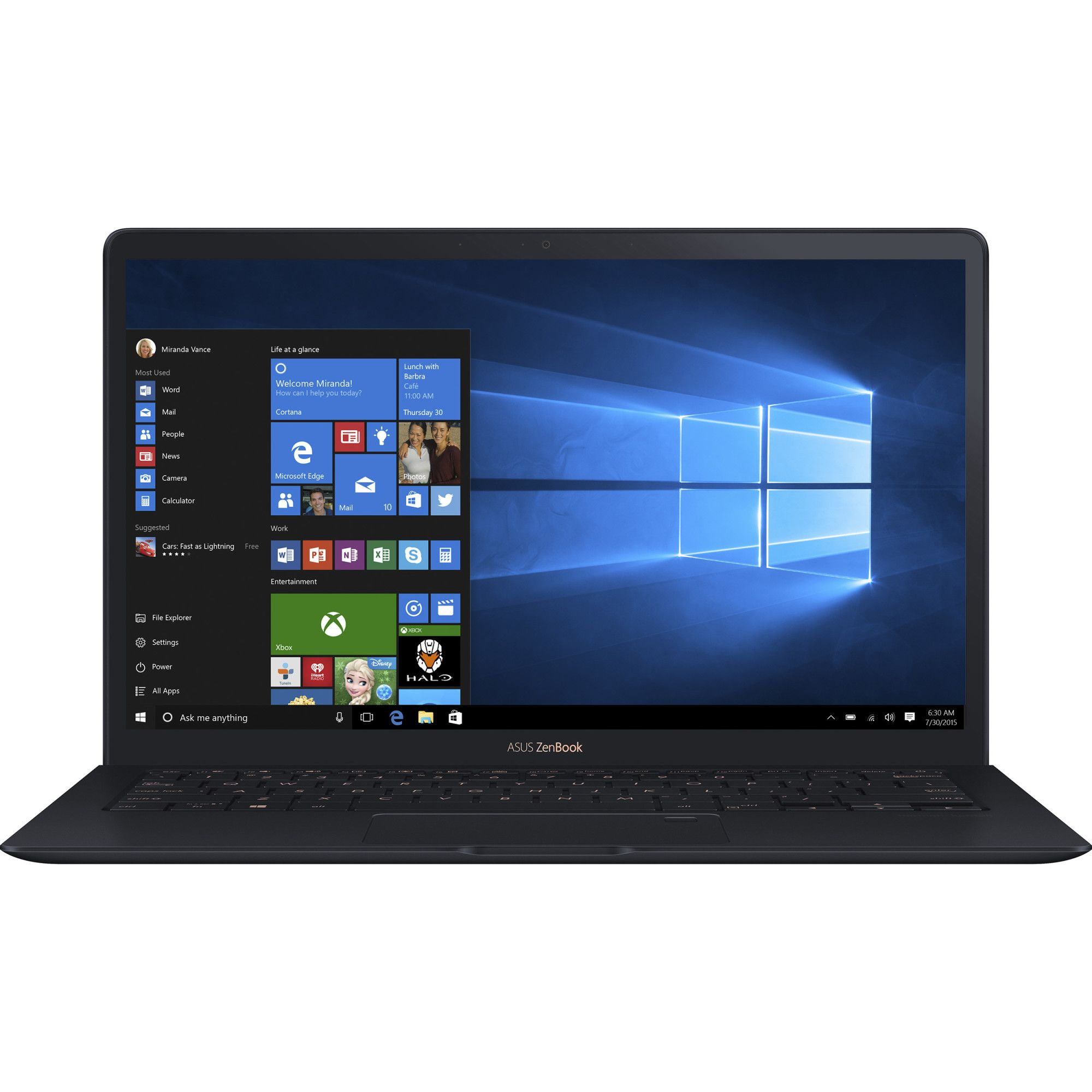 Ultrabook Asus ZenBook S UX391UA 13.3 Full HD Intel Core i7-8550U RAM 8GB SSD 256GB Windows 10 Albastru