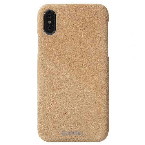 Capac protectie spate Krusell Broby Cover pentru Apple iPhone XS 5.8″ Cognac