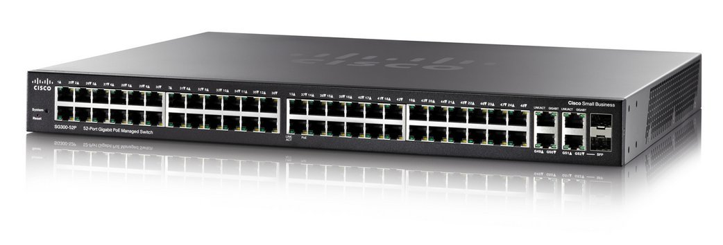 Switch Cisco SG350-52P-K9 cu PoE 52x1000Mbps-RJ45